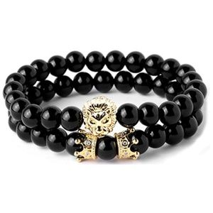 Other - Beads Bracelet Set for Men with Black Onxy Crown